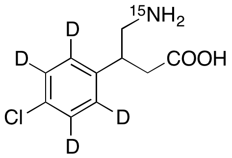 Baclofen-d<sub>4</sub>,15N