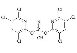 Chlorpyriphos impurity (O,O-bis-(3,5,6-trichloropyridin-2-yl) hydrogen thiophosphate)