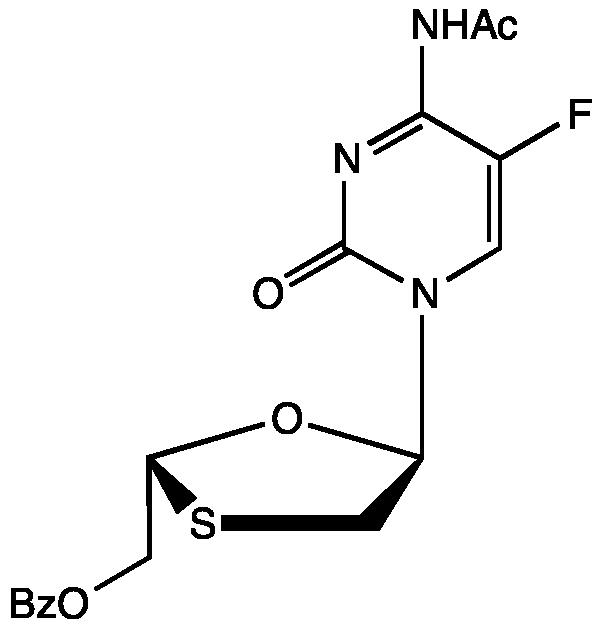 N-Acetyl O-benzoyl 5-epi emtricitabine