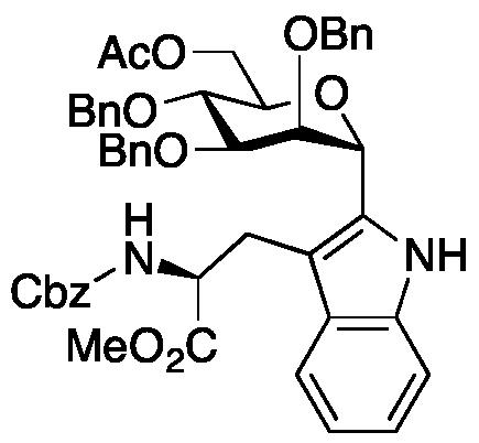 2-[6-O-Acetyl-2,3,4-tris-O-(phenylmethyl)-α-D-mannopyranosyl]-N-carbobenzoxy-L-tryptophan methyl ester