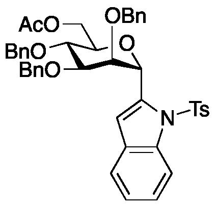 2-[6-O-Acetyl-2,3,4-tris-O-(phenylmethyl)-α-D-mannopyranosyl]-1-[(4-methylphenyl)sulfonyl]-1H-indole
