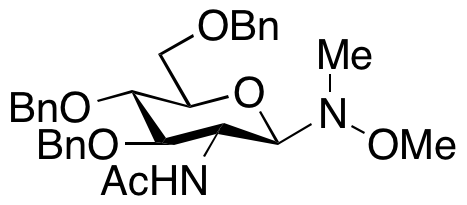 2-(Acetylamino)-2-deoxy-N-methoxy-N-methyl-3,4,6-tris-O-(phenylmethyl)- β-D-glucopyranosylamine