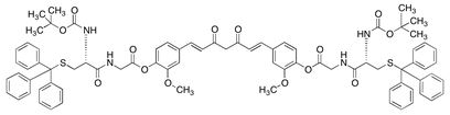 N,N'-Di-Boc-S-di(trityl)-di-O-cysteinyl-glycinoyl curcumin