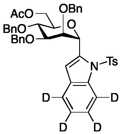 2-[6-O-Acetyl-2,3,4-tris-O-(phenylmethyl)-&#945;-D-mannopyranosyl]-1-[(4-methylphenyl)sulfonyl]-1H-indole-d<sub>4</sub>