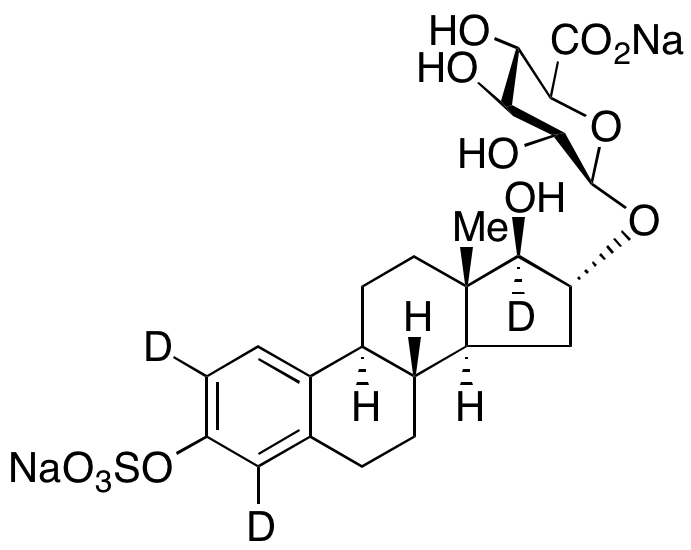 Estriol-d<sub>3</sub> 3-O-Sulfate 16-O- β-D-Glucuronide Sodium Salt